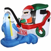7' Wide Tuna Fishing Santa Animated Inflatable