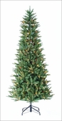 Baltimore Pine <b>Slim</b> Prelit Artificial Christmas Trees