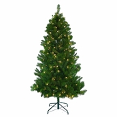 Mixed Pine <b>Slim</b> Prelit Artificial Christmas Tree
