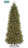 "Poly ""Feel Real"" Carolina Fraser <b>Slim</b> Prelit Artificial Christmas Tree"