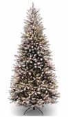 Snowy Forrest <b>Slim</b> Fir Prelit Artificial Christmas Tree