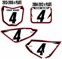 "Honda CRF50 ""Shock Series"" Backgrounds by Fast Times (White)"