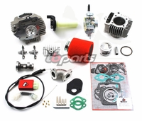 Motoped 88cc Race Head Kit, 20mm Carb, Race Cam