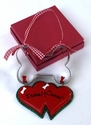 Double Heart Ornament