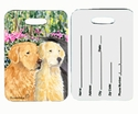 Luggage tag with 2 Goldens