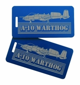 A-10 Warthog Bag Tag Set of Two