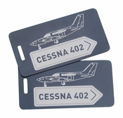 Cessna 402 Bag Tag Set of Two