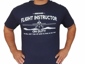 Aviation Shirt, Certified Flight Instructor on Duty