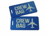 Crew Bag, Crew Bag Tag Set of Two