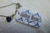 Galley Wench Flight Attendant Dog Tag Pendant Necklace