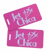 Jet Chica Bag Tag Set of Two