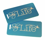 Sky Life Bag Tag Set of Two