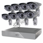 Pro Model 8CH H.264 1TB Smart Security DVR with 8 Ultra Hi-res Outdoor Surveillance Cameras and Smart Phone Compatibility
