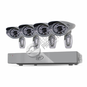 Pro Model 8CH H.264 1TB Smart Security DVR with 4 Ultra Hi-res Outdoor Surveillance Cameras and Smart Phone Compatibility
