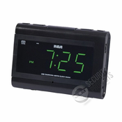 True IP� RCA� AM/FM Clock Radio with USB Smartphone Charging Wireless Internet Surveillance Camera System