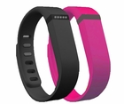 Fitbit Flex Wireless Activity and Sleep Wristband Black with Extra Band Purple Pink