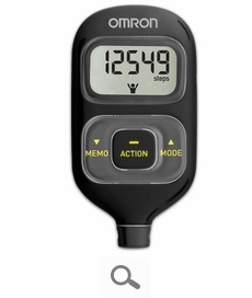 Omron HJ-203 Pedometer with Activity Tracker Black