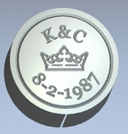 Crown Monogram & Date<br>Wax Seal Stamp