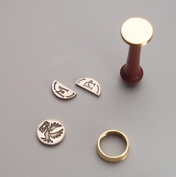 Two Letter Monogram Wax Seal Stamp with Changeable Initials