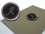 Initial Self Adhesive Faux Wax Seals *