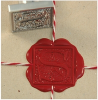 "Ornate Initial 1"" Square<br>Wax Seal Stamp"