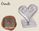 """Ornate 1"""" Square Initial<br>Wax Seal Stamp"""