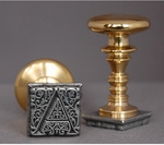 """French 1"""" Sq Initial <br>Wax Seal Stamp"""