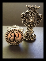 Italian Crafted Silver Bold Initial - <br>Wax Seal Stamp