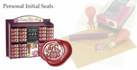 Stuart Houghton Initial & Wax<br>Boxed Wax Seal Stamp Set