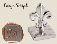 """Traditional 1"""" Square Initial<br>Wax Seal Stamp"""