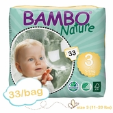 US Version - Bambo Nature Midi Premium Baby Diapers - Convenience Pack - Bag