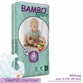 European Version - Bambo Nature Maxi Premium Baby Diapers - Tall Pack - Bag