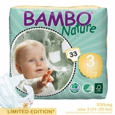 European Version - Bambo Nature Midi Premium Baby Diapers - Convenience Pack - Bag