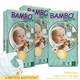 European Version - Bambo Nature Midi Premium Baby Diapers - Tall Pack - Case