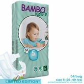 European Version - Bambo Nature Junior Premium Baby Diapers - Tall Pack  - Bag