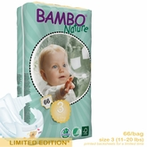 European Version - Bambo Nature Midi Premium Baby Diapers - Tall Pack - Bag