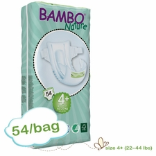 New Size - Bambo Nature Maxi Plus Premium Baby Diapers -Tall Pack - Bag