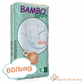New Size - Bambo Nature Midi Plus Premium Baby Diapers -Tall Pack - Bag