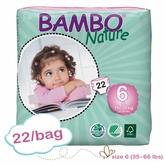 New Size - Bambo Nature XL Plus Premium Baby Diapers - Convenience Pack - Bag