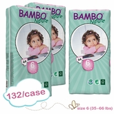 New Size - Bambo Nature XL Plus Premium Baby Diapers - Tall Pack - Case