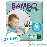 US Version - Bambo Nature Junior Premium Baby Diapers - Convenience Pack - Bag