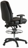 Harwick Ergonomic Premium Leather Drafting Chair [100KL]