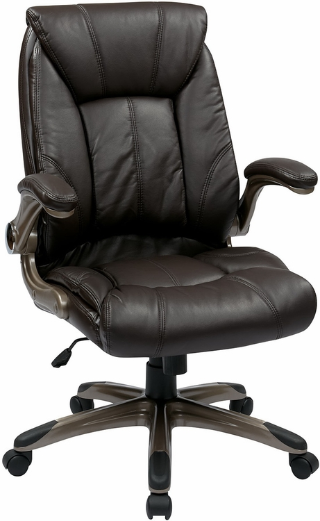 managers mid back faux leather office chair flh24981