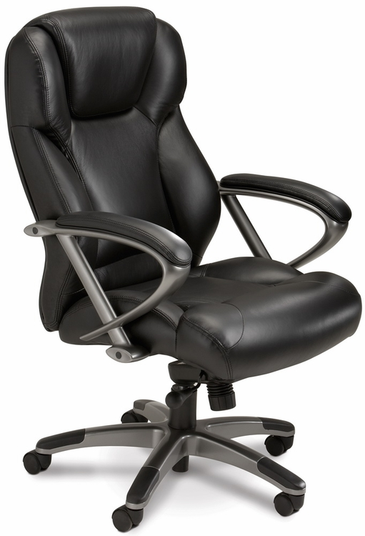 Mayline Leather Executive Chair With Lumbar Support UL350H