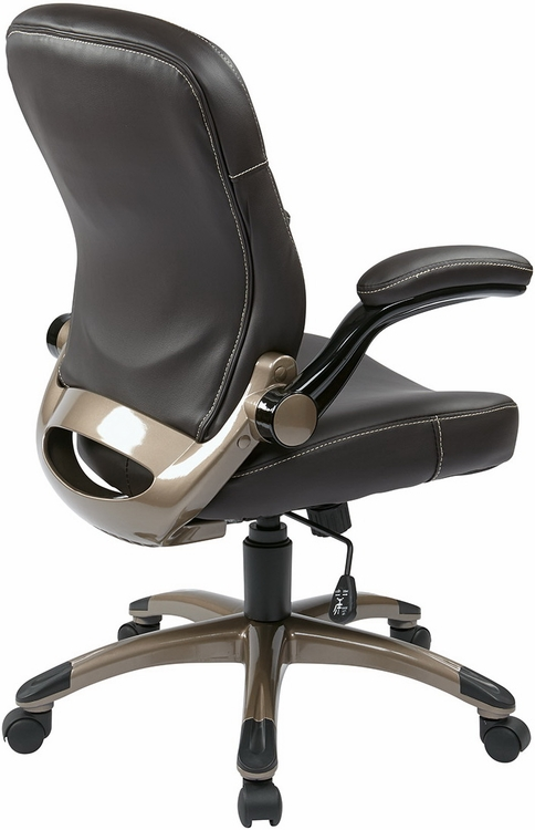 mid back espresso office chair ech37811