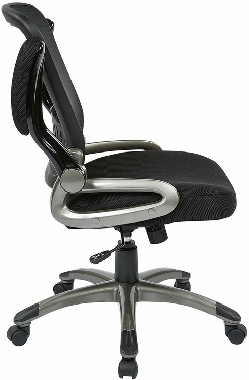 Office Chair Flip Arms Black Or Espresso Eco Leather
