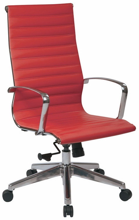fice Star High Back Red Leather fice Chair LT
