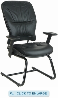 Office star leather guest chair 2905