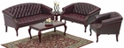 Office Star Traditional Queen Anne Office Sofa [TSX1123]