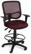OFM Contemporary Mesh Drafting Chair with Arms [130-AA3-DK]